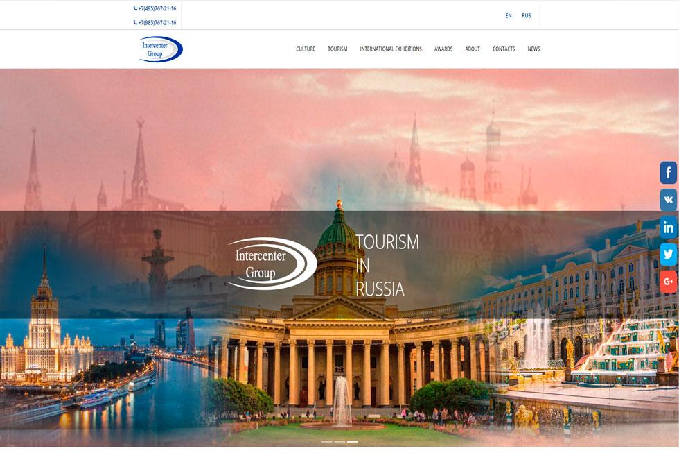 Корпоративный сайт компании, занимающейся организацией выставочных стендов в туристической отрасли